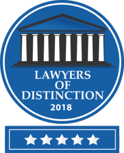 Lawyers of Distinction 2018 award