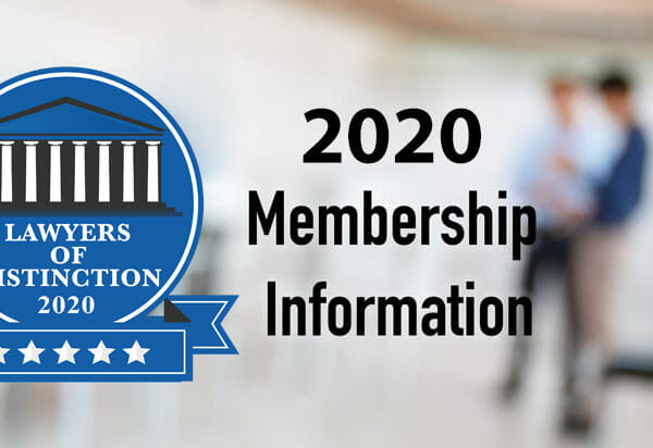 2020 lawyers of distinction membership information