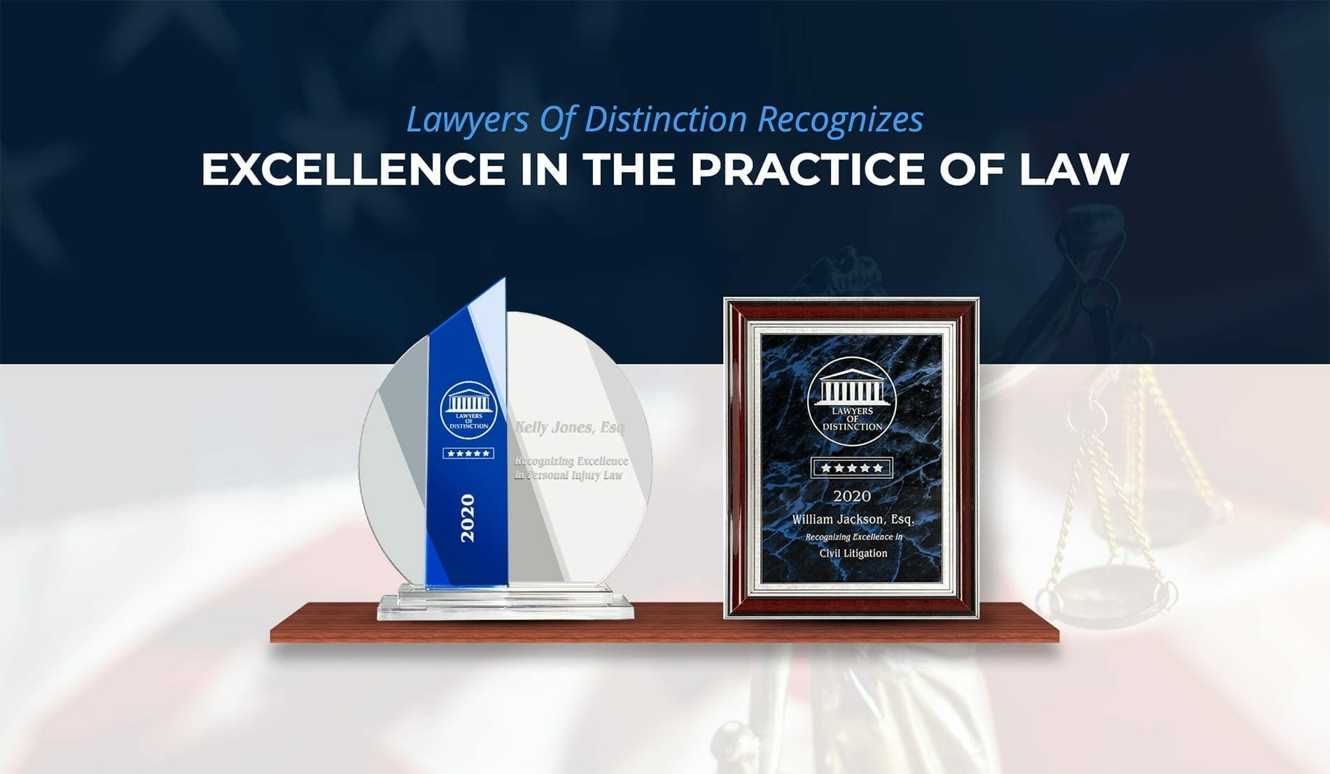 lawyers of distinction award layout